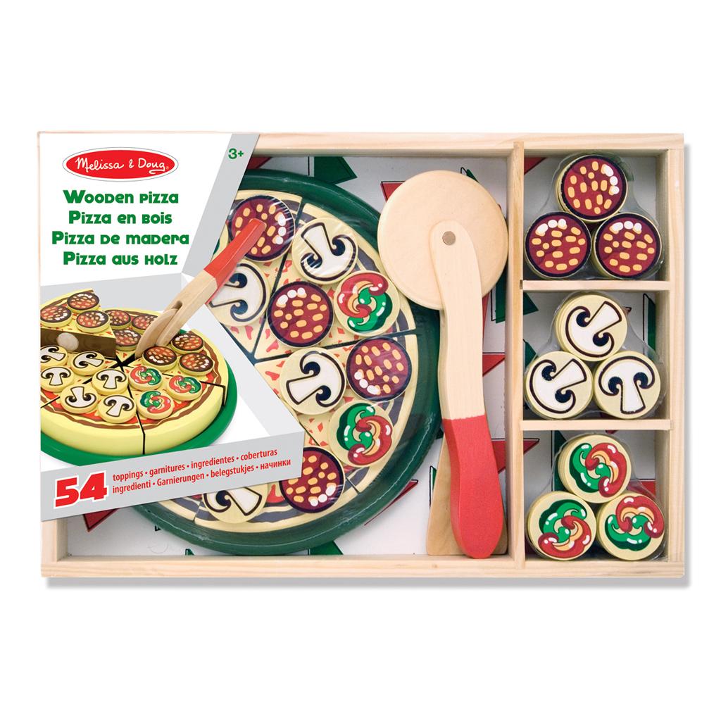 Afbeelding van Houten Pizza 54-Delig