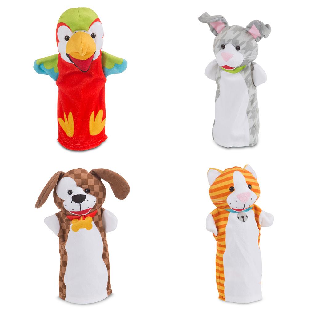 Afbeelding van Handpoppen Huisdieren 4 Stuks