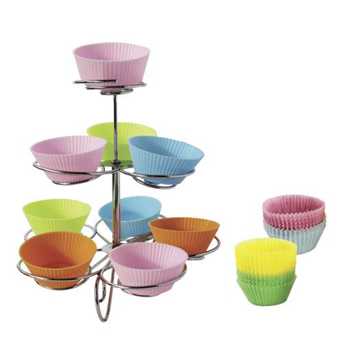 Afbeelding van Cupcakestandaard Met Cups