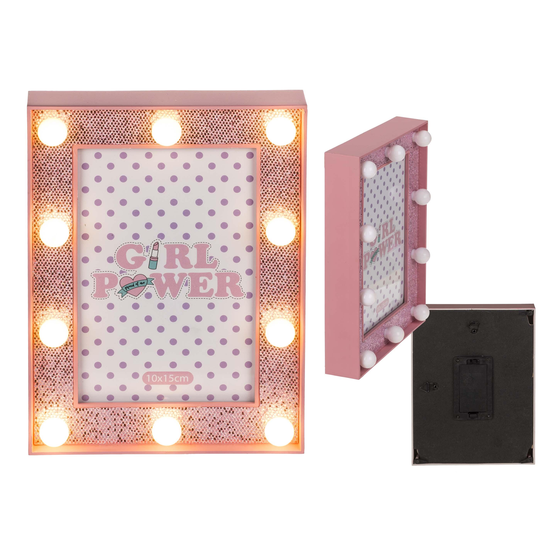 Afbeelding van Fotolijst Glitter Roze 10x15 Cm