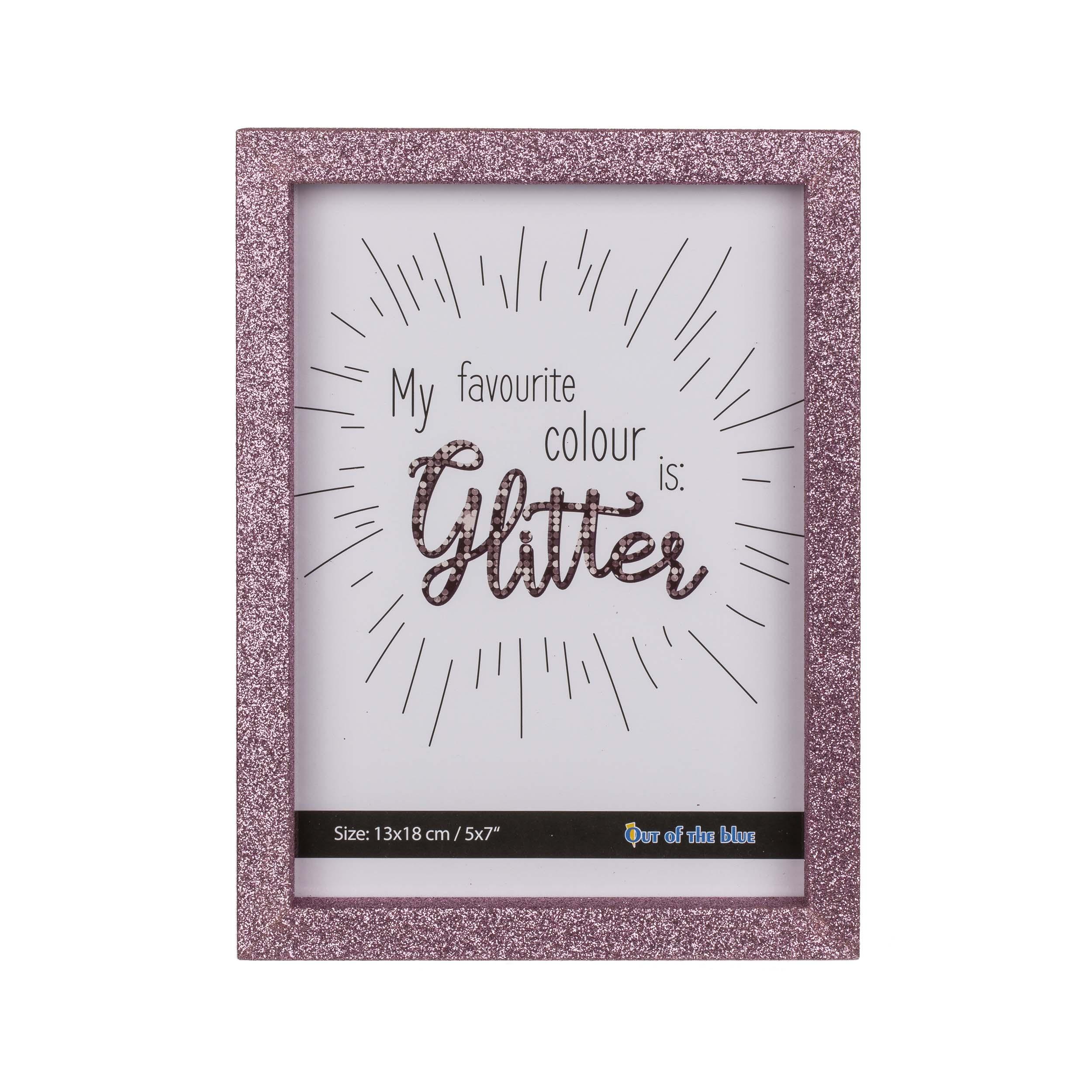 Afbeelding van Fotolijst Roze Glitter 13X18 Cm