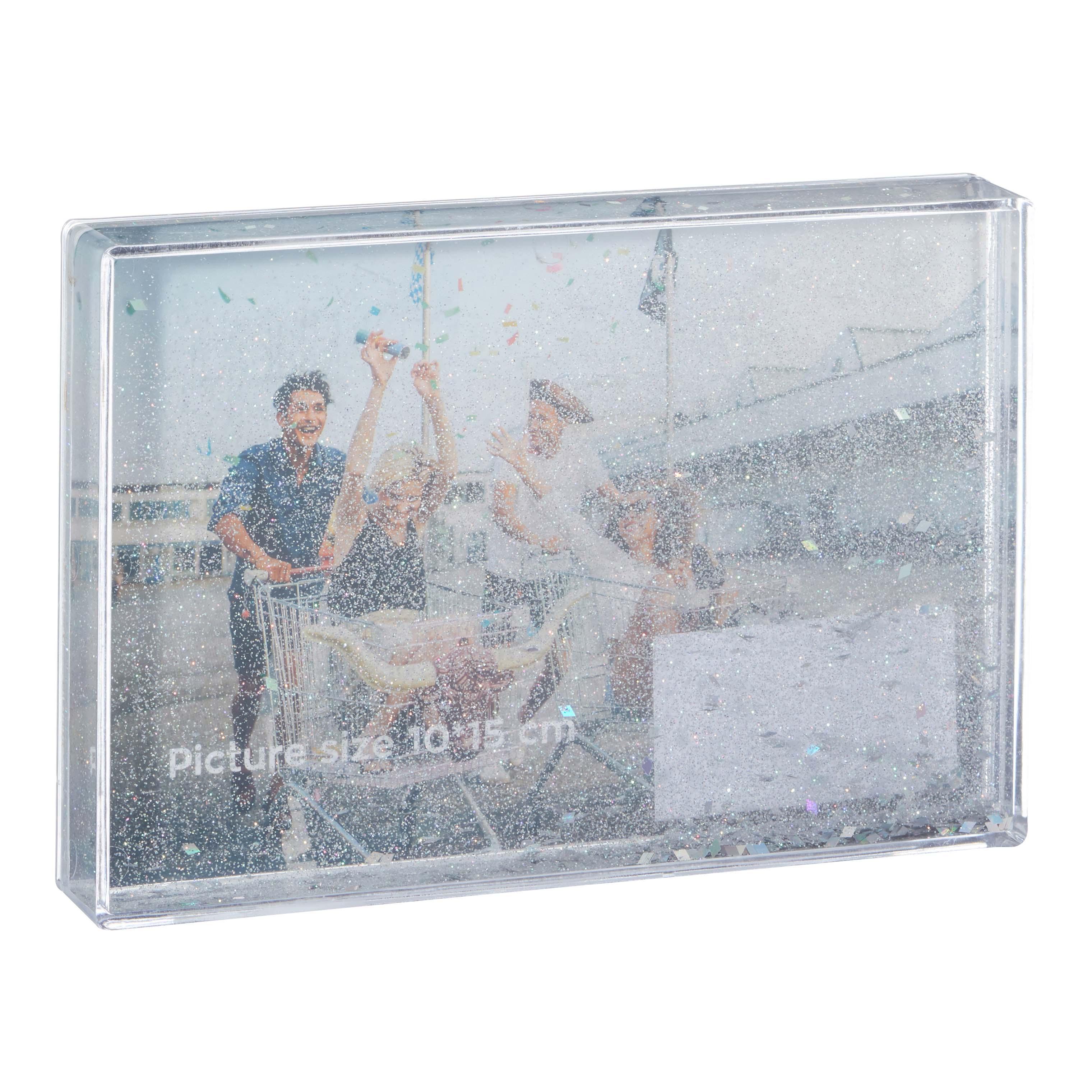 Afbeelding van Fotolijst Glitter Zilver 10*15 Cm