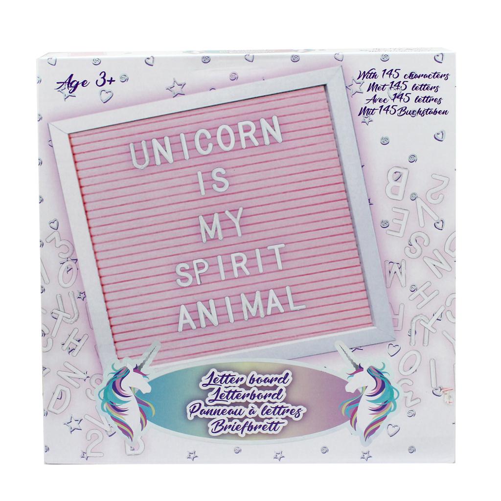 Afbeelding van Letterbord Roze Met 145 Symbolen 25*25cm