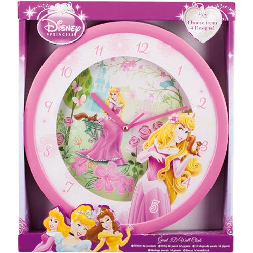 Afbeelding van Wandklok Disney Princess 3D 4 Assorti