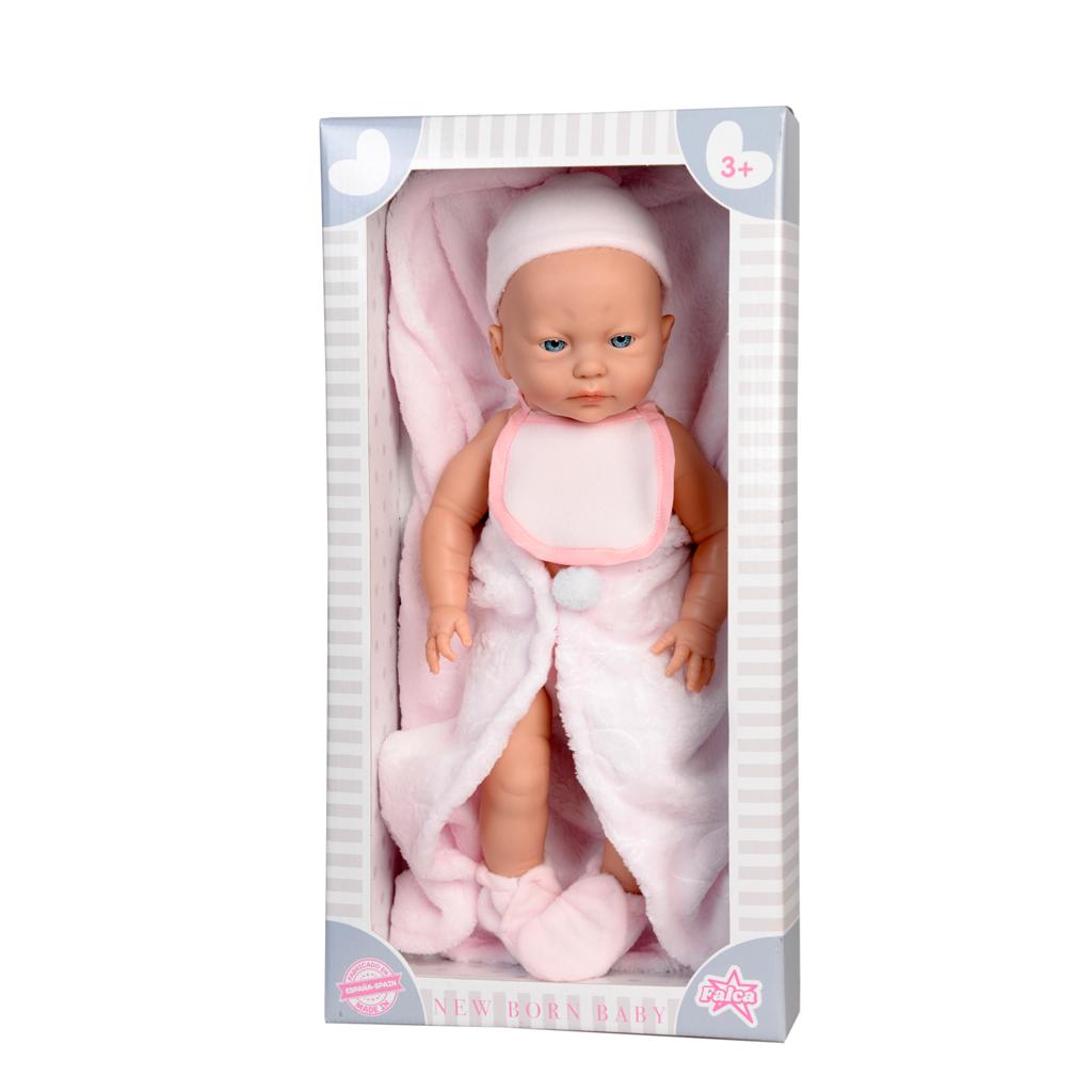 Afbeelding van Baby Pop New Born Meisje Met Dekje