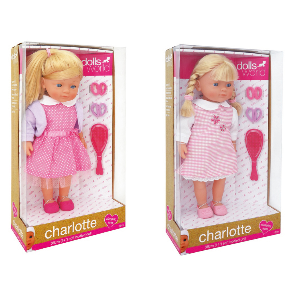 Afbeelding van Pop Dolls World Charlotte Kapsels Maken 36 Cm Assorti