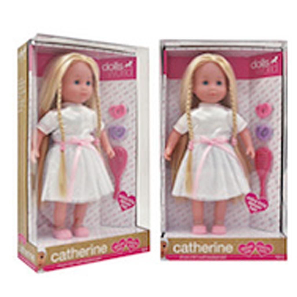 Afbeelding van Pop Dolls World Catherine Deluxe Kapsels Maken 41 Cm
