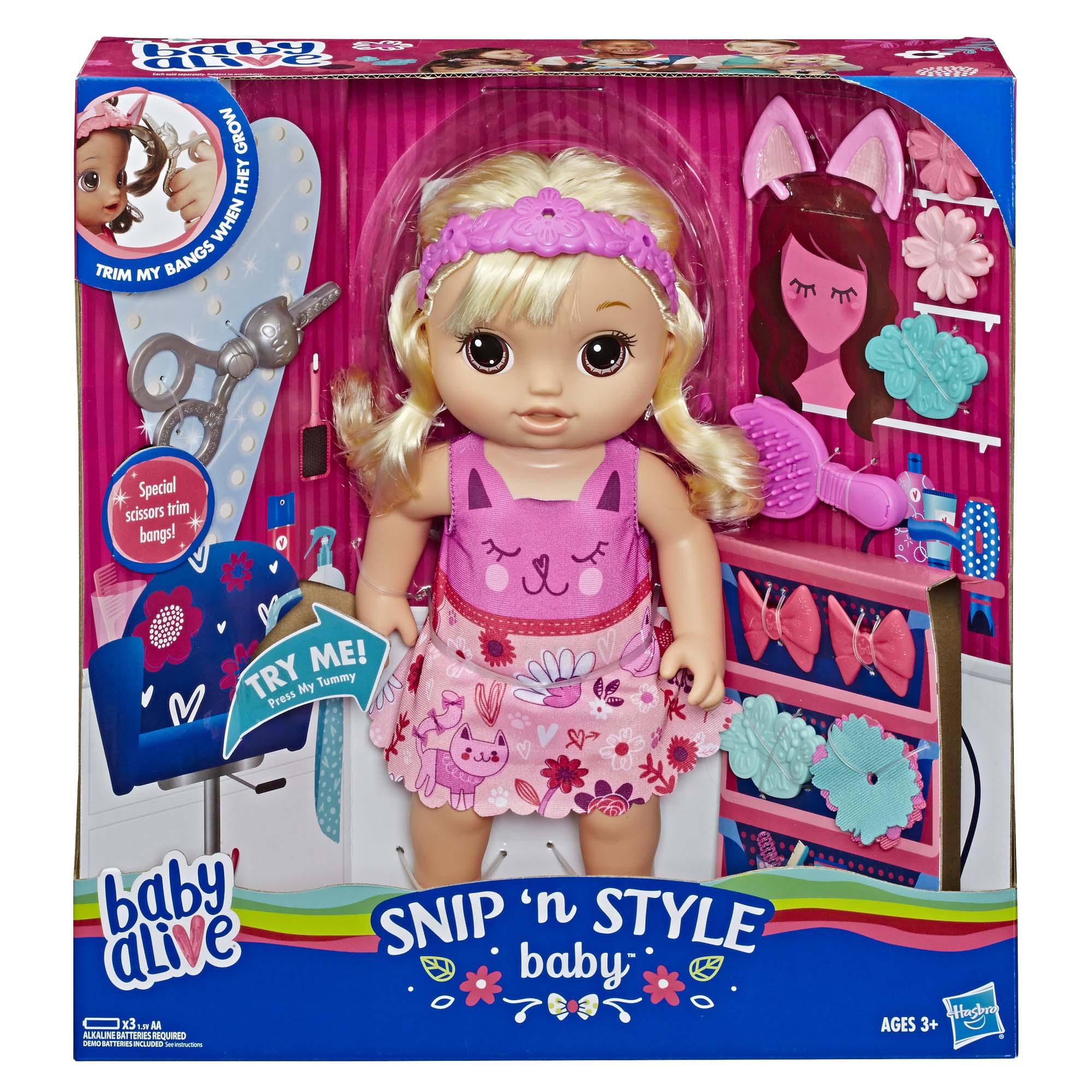 Afbeelding van Baby Alive Magisch Kapsel Baby Blond