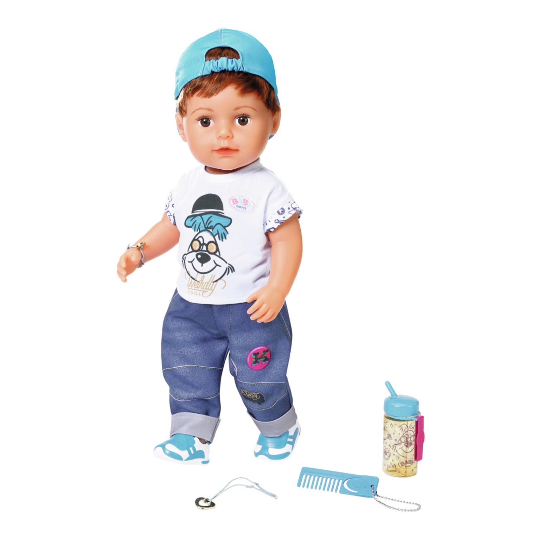 Afbeelding van Baby Born Pop Soft Touch Brother Met Functies