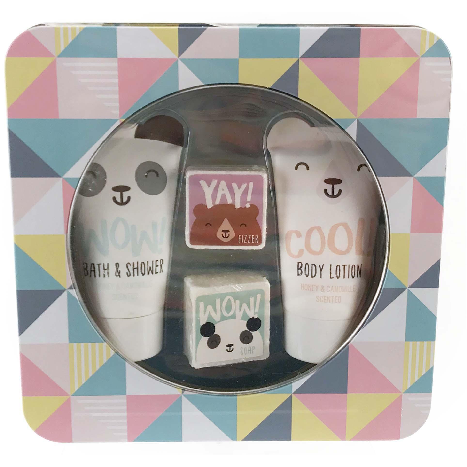 Afbeelding van Bad Giftset Showergel Bodylotion Zeep Happy Friends