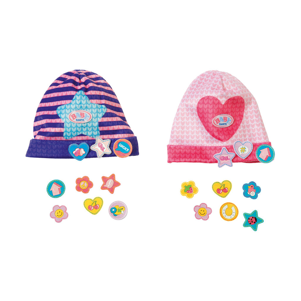 Afbeelding van Baby Born Caps With Funny Pins