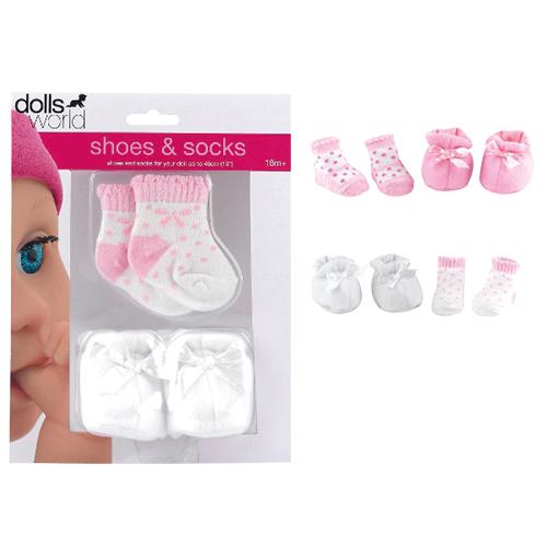 Afbeelding van Poppenkleding Dolls World Sokken En Schoenen