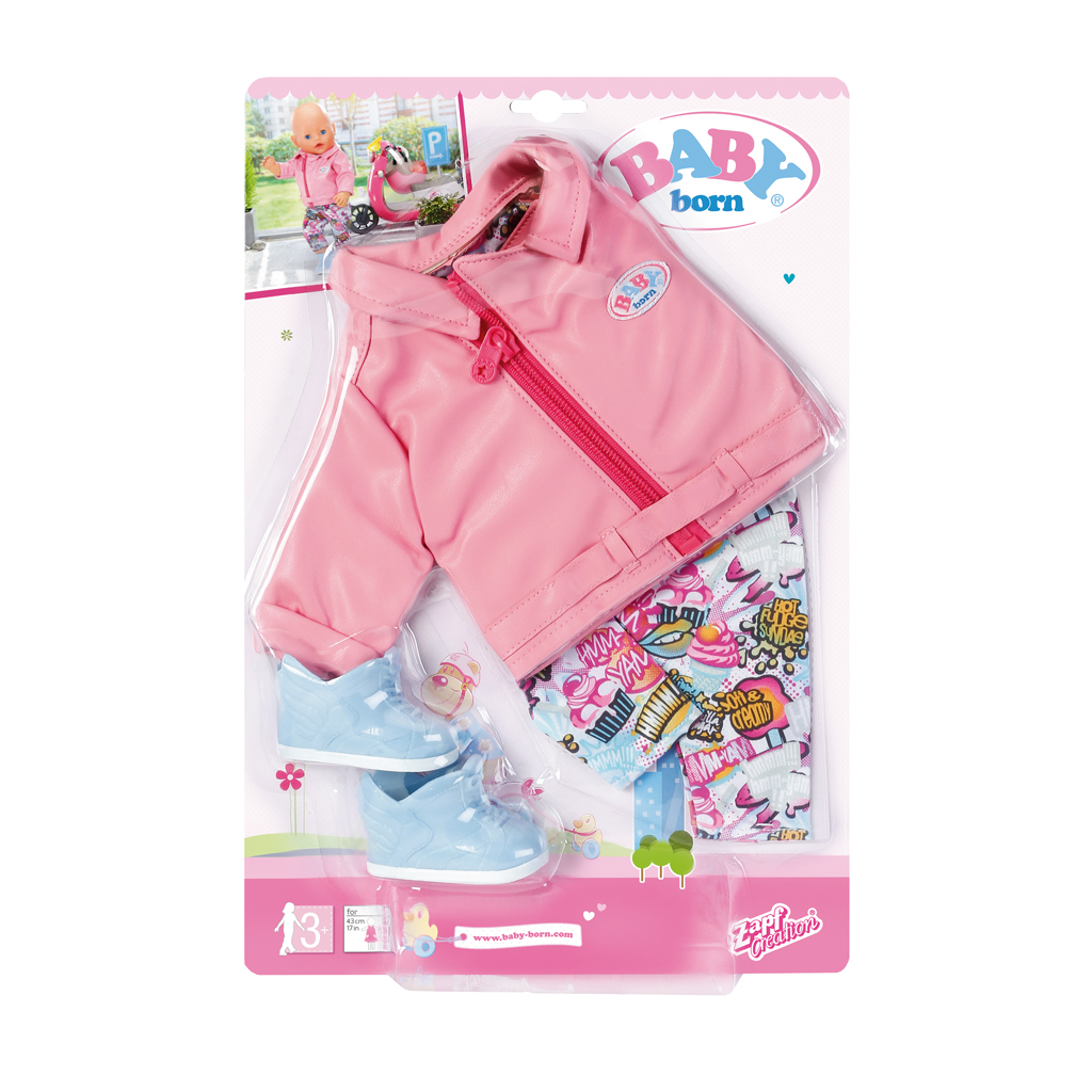 Afbeelding van Baby Born City Deluxe Scooter Outfit