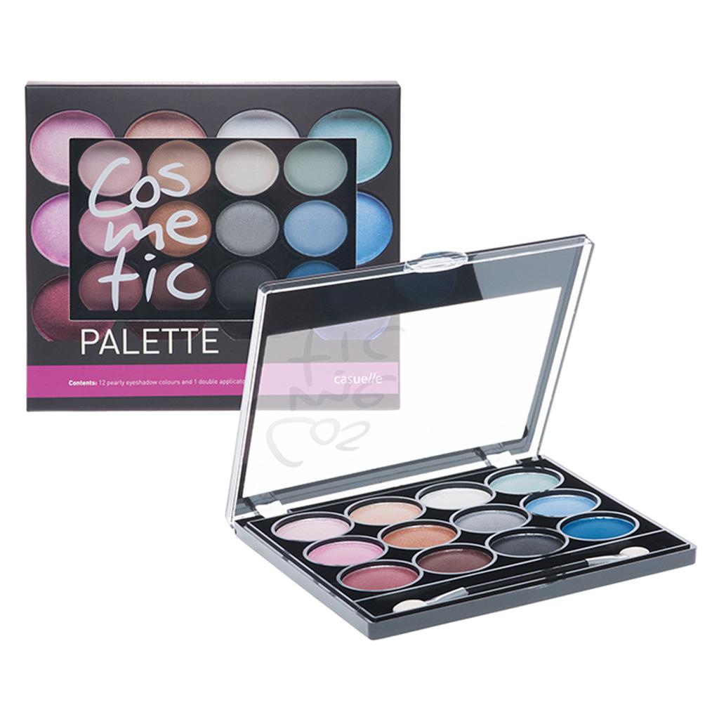 Afbeelding van Casuelle Eyeshadow Compact Met 12 Kleuren En Applicator