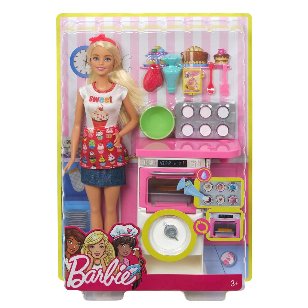 Afbeelding van Barbie Cupcake Bakkerij Speelset