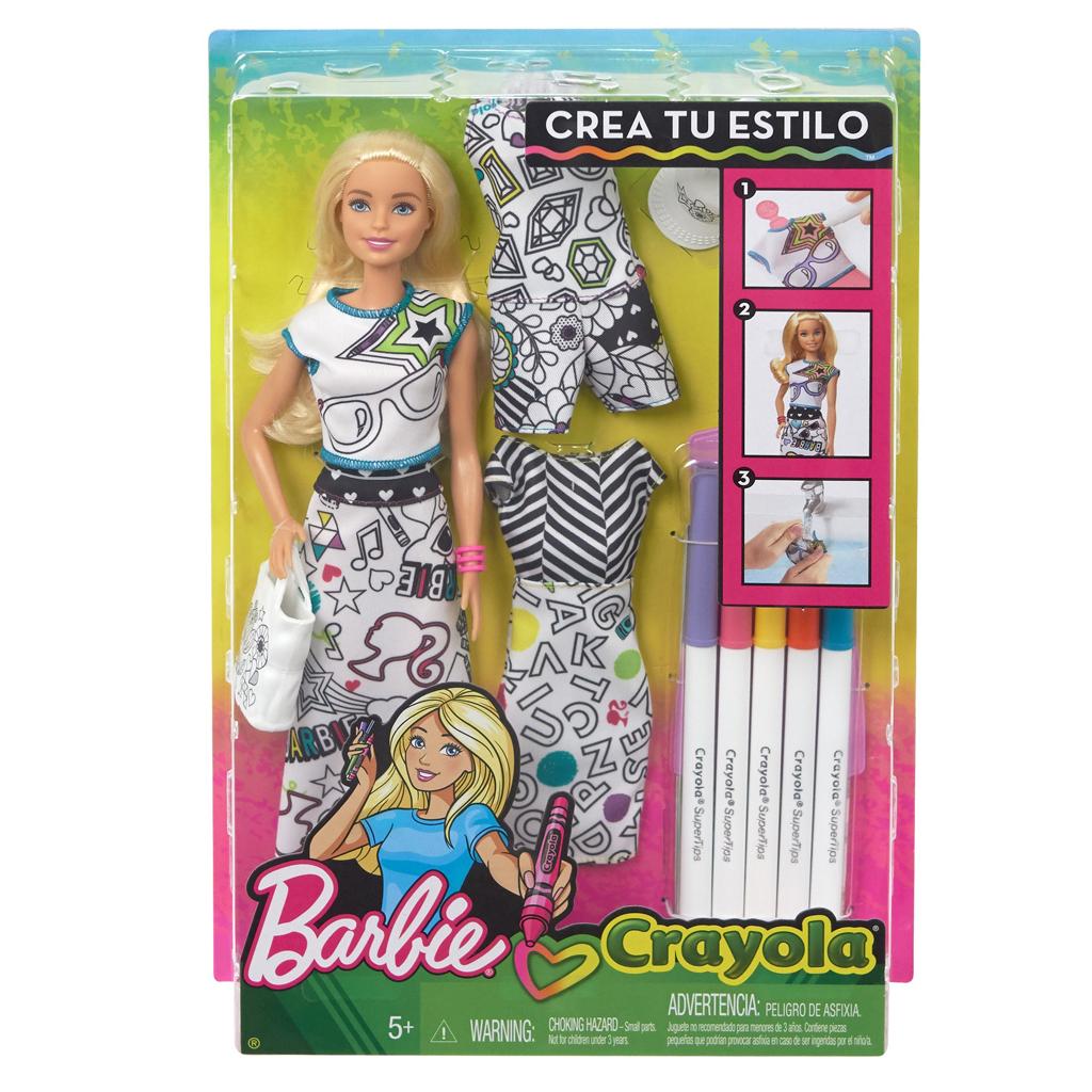 Afbeelding van Barbie Crayola Inkleurfashions - Caucasian