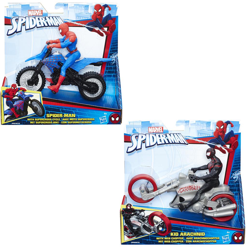 Afbeelding van Actiefiguur Spiderman En Voertuig 15 Cm Assorti