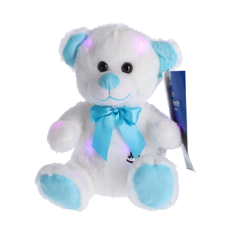 Afbeelding van Pluche Beer Blauw LED 35 Cm