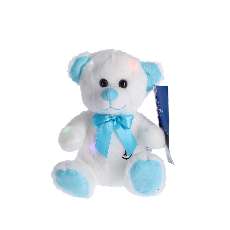 Afbeelding van Pluche Beer Blauw LED 30 Cm