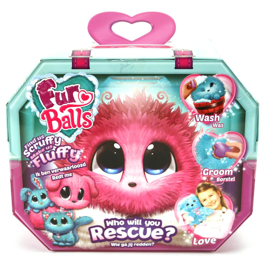 Afbeelding van Fur Balls Pink 3 Assorti