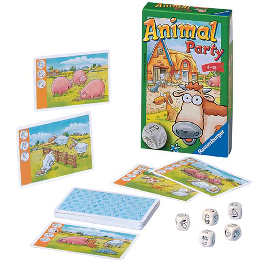 Afbeelding van Spel Animal Party Pocketspel