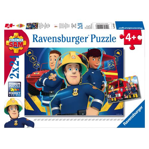 Afbeelding van Puzzel Brandweerman Sam: Sam Helpt Je Uit De Brand 2x24 Puzzelstukjes