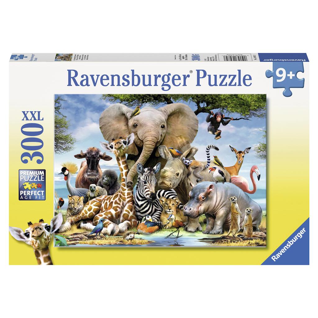 Afbeelding van Puzzel Afrikaanse Vrienden 300 Stukjes