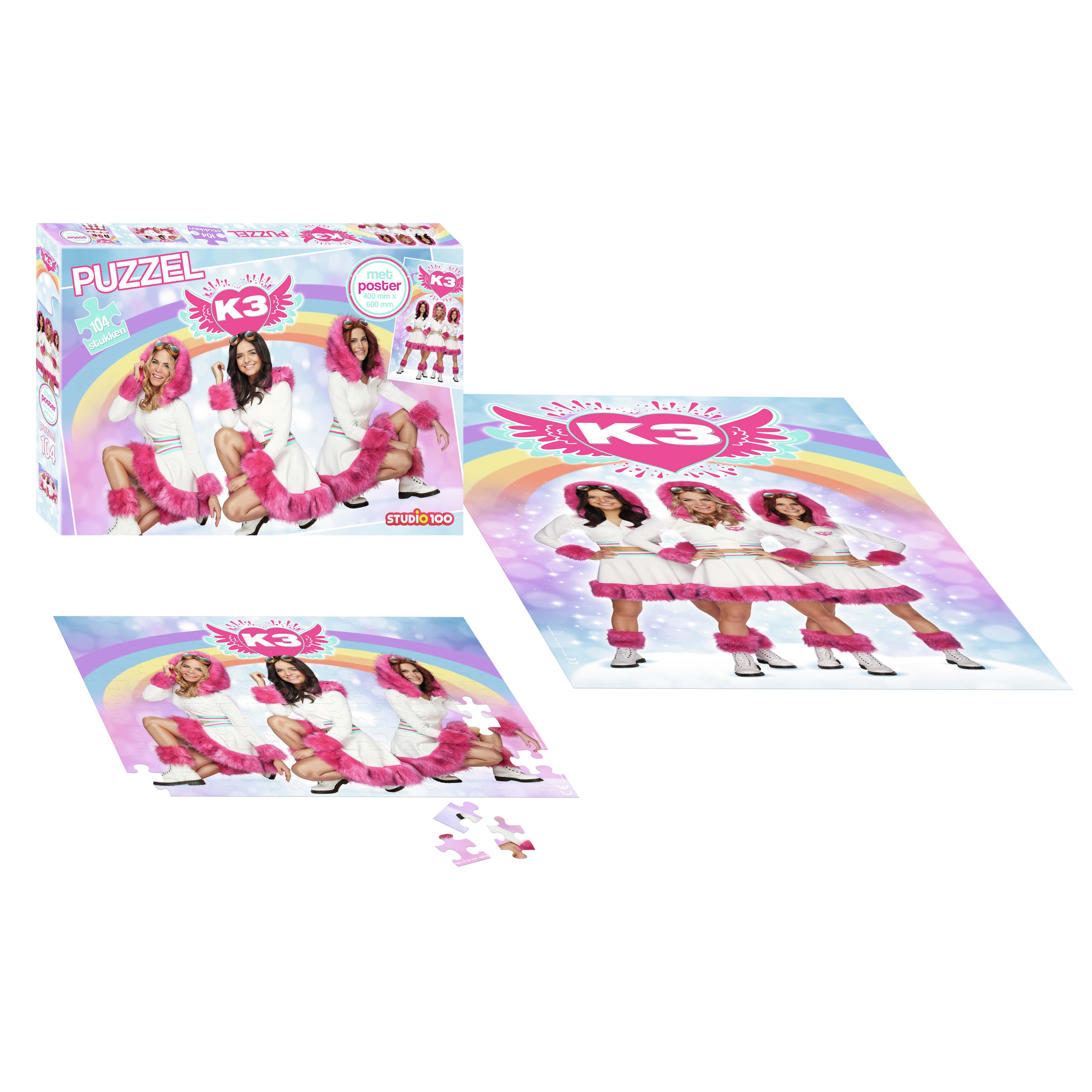 Afbeelding van K3 Dromen Puzzel Met Poster