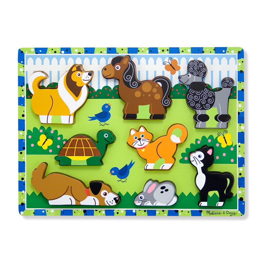Afbeelding van Puzzel Hout - Huisdieren