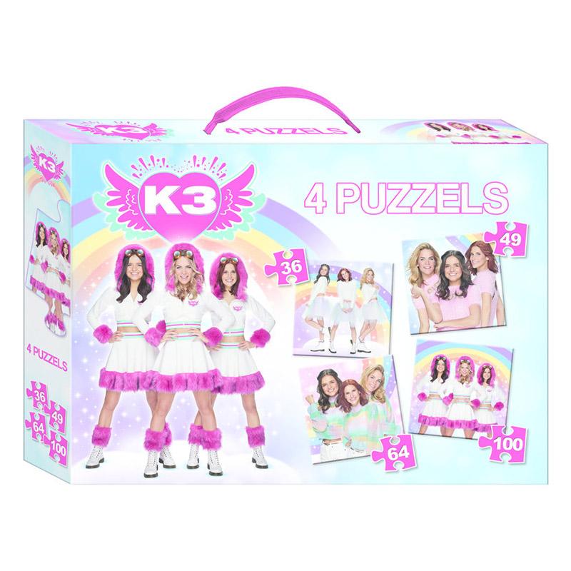 Afbeelding van K3 Puzzel 4-in-1