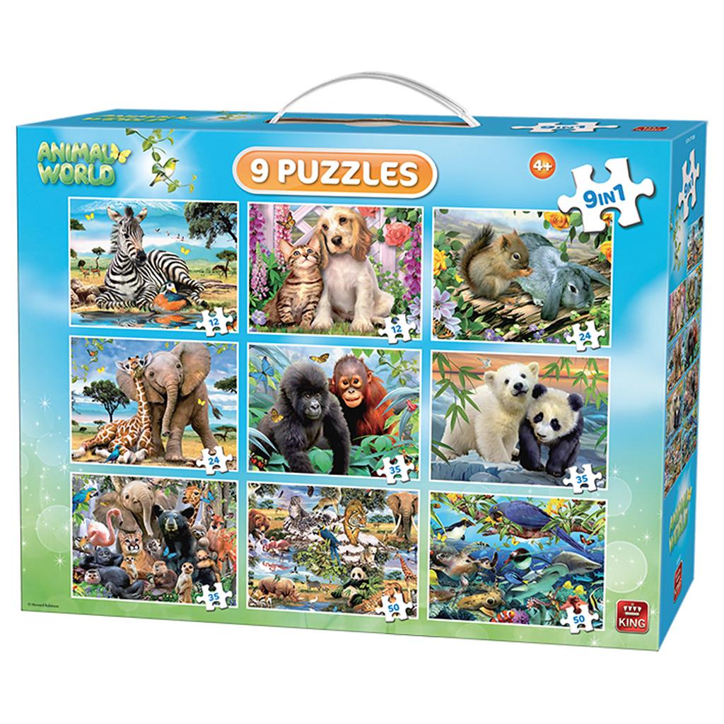 Afbeelding van Puzzel 9 In 1 Animal Puzzel Pack