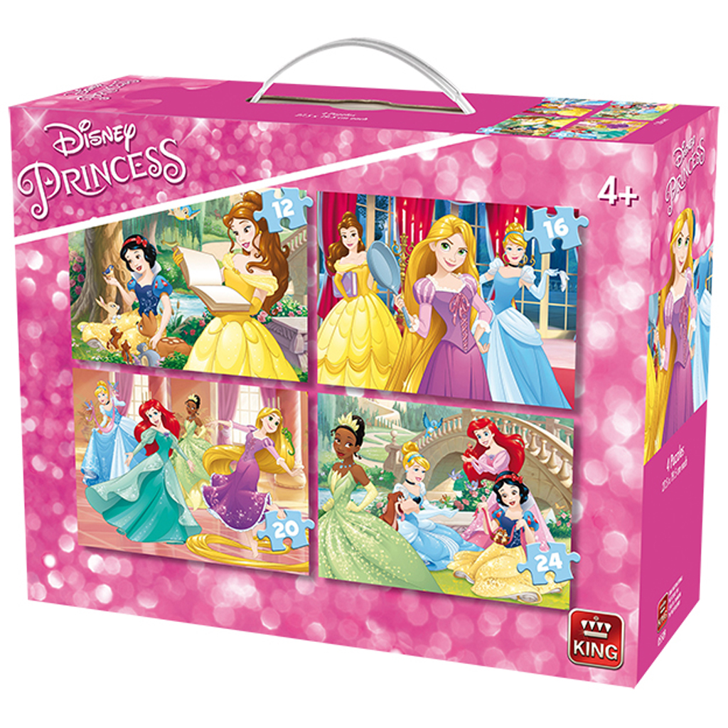 Afbeelding van Puzzel 4 In 1 Disney Princess