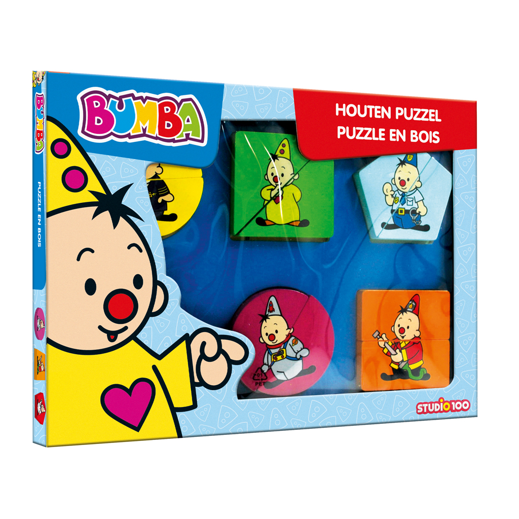 Afbeelding van Bumba Houten Puzzel Met Dikke Stukken Beroepen
