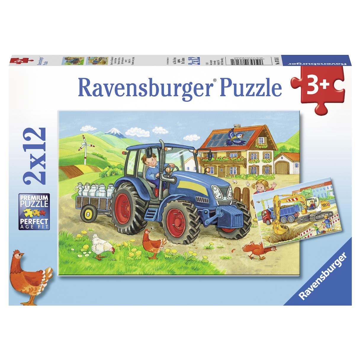 Afbeelding van Puzzel Bouwplaats Boerderij 2X12 Stuks
