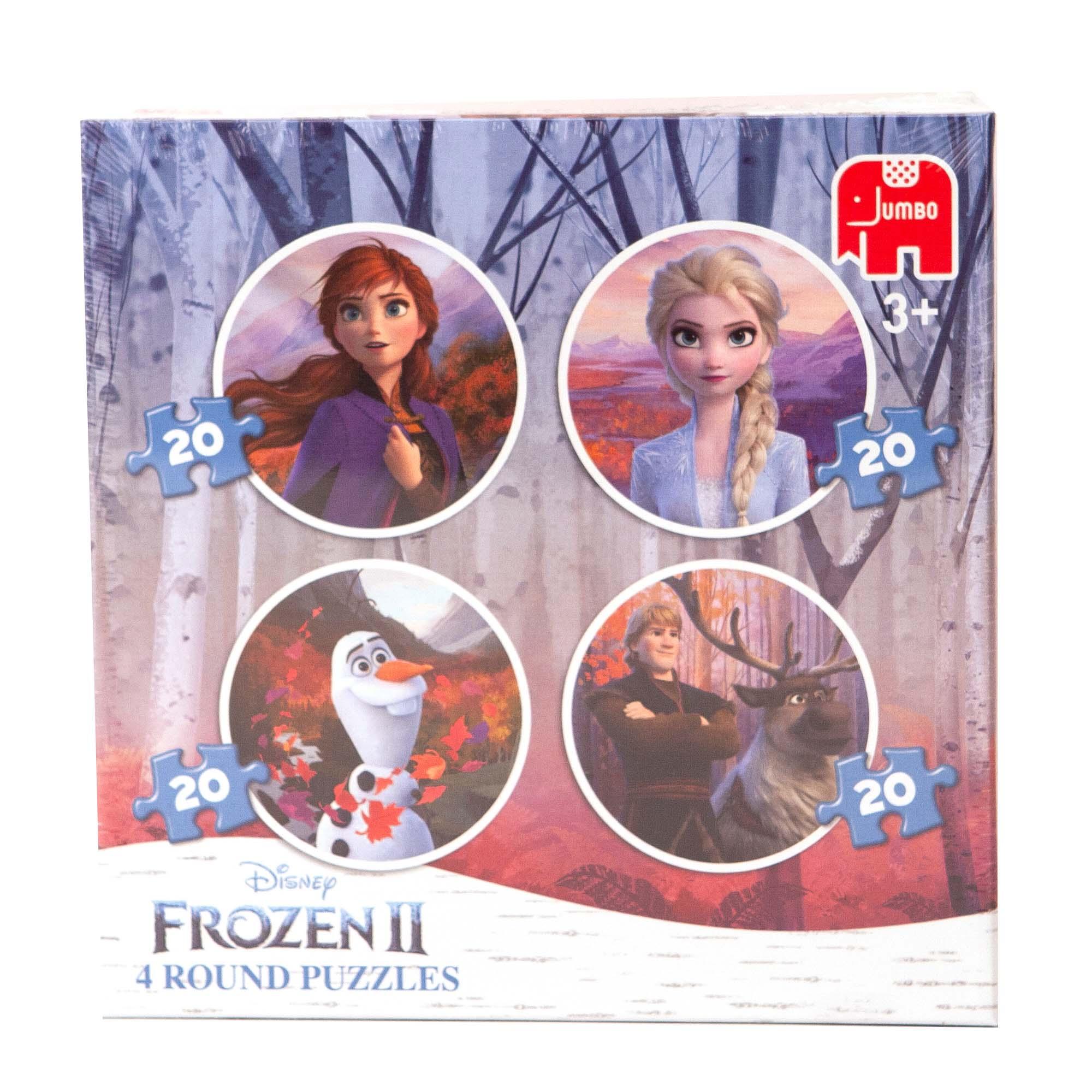 Afbeelding van Puzzel 4 In 1 Rond Disney Frozen 2