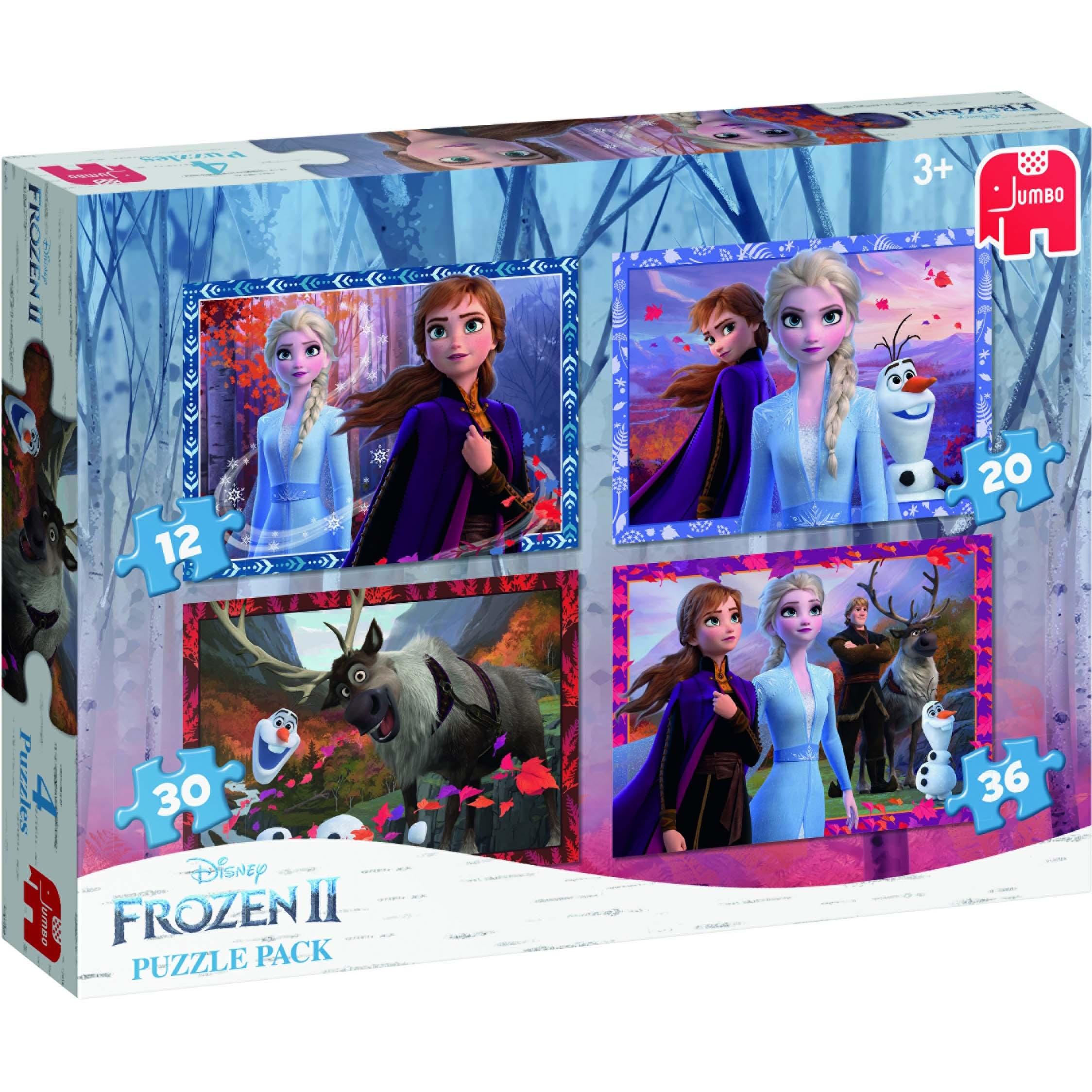Afbeelding van Puzzel 4 In 1 Pack Disney Frozen 2