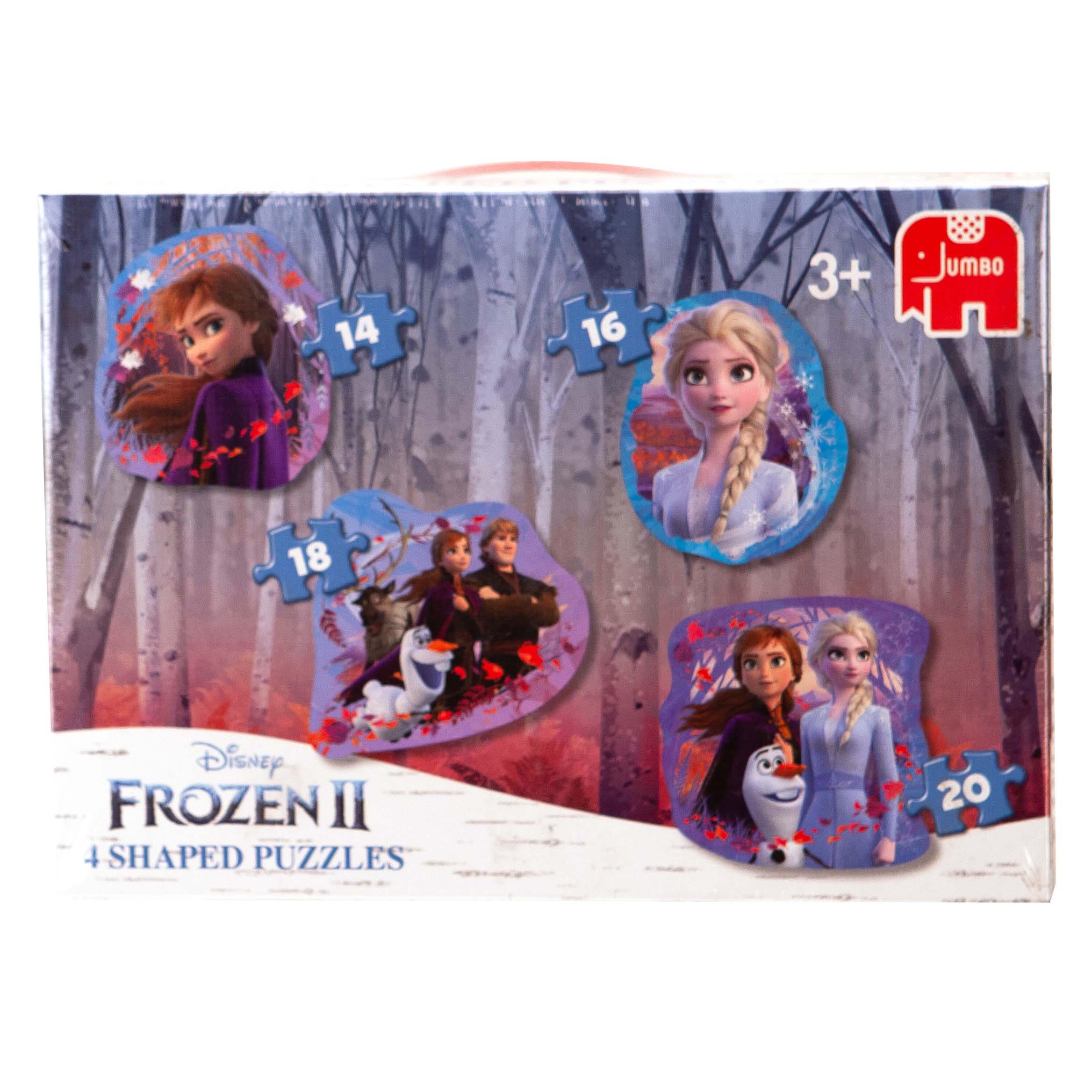 Afbeelding van Puzzel 4 In 1 Shaped Disney Frozen 2
