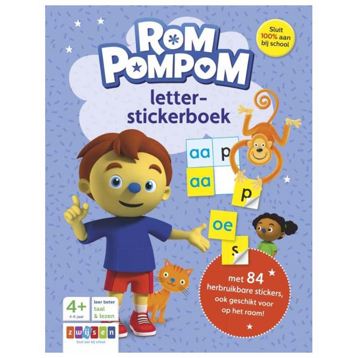 Afbeelding van Rompompom Letter-Stickerboek