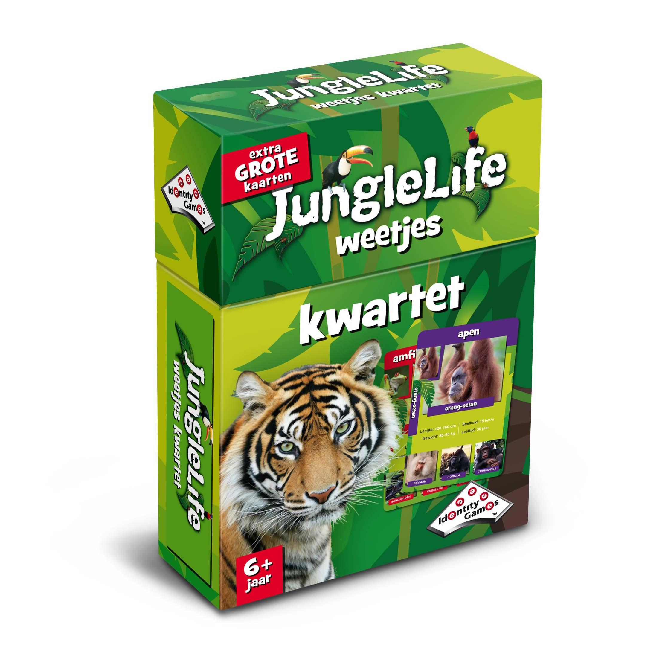 Afbeelding van Spel Weetjes Kwartet Junglelife