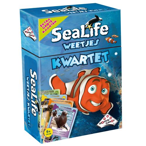 Afbeelding van Spel Weetjes Kwartet Sealife
