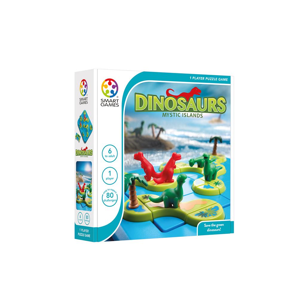 Afbeelding van Smartgames Spel Dinosaurs Mysterieuze Eilanden