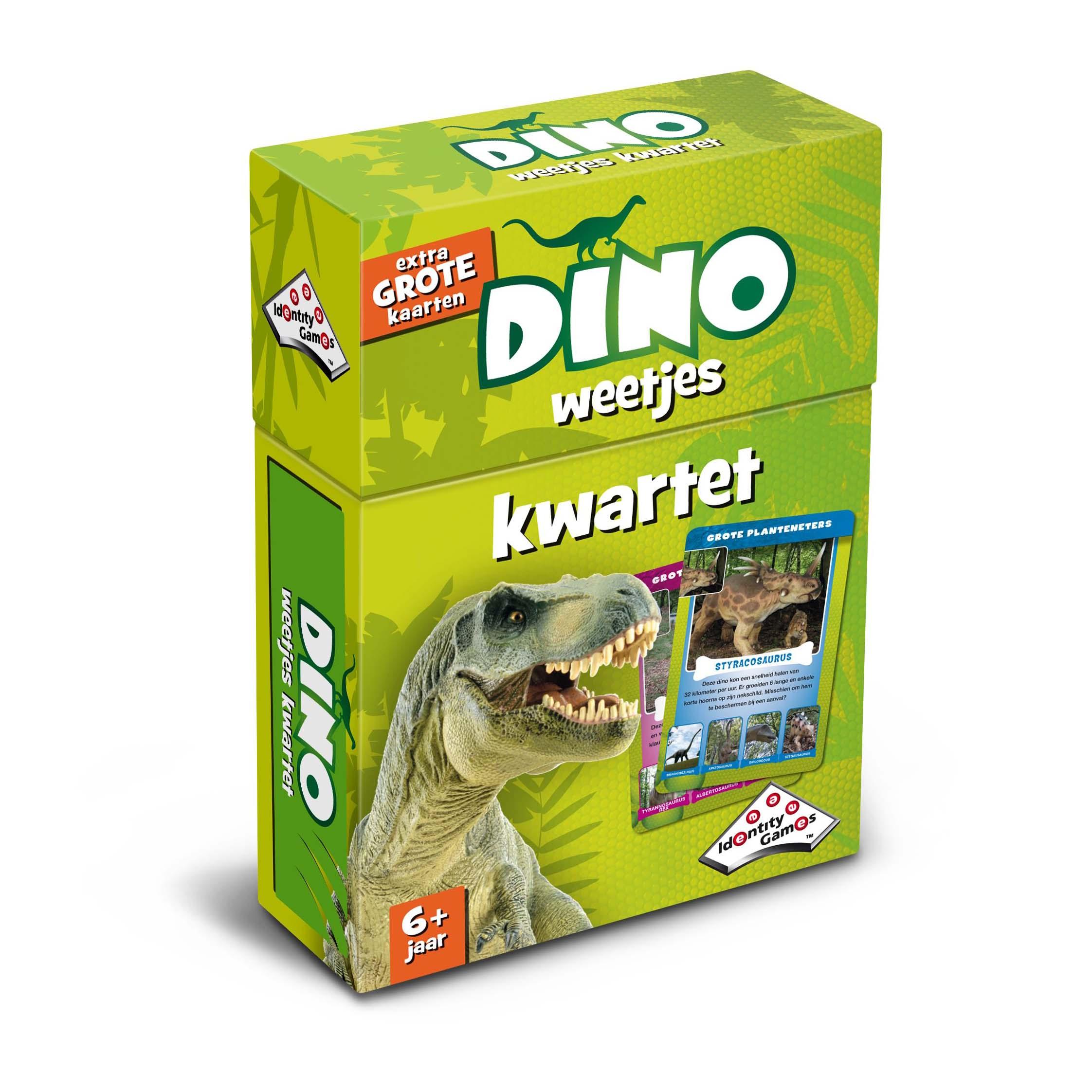 Afbeelding van Spel Weetjes Kwartet Dino's