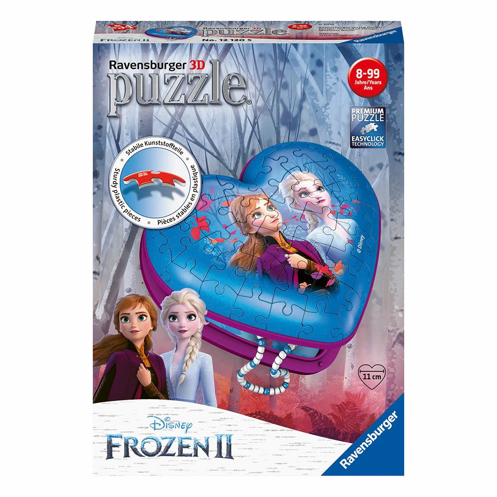 Afbeelding van Puzzel 3D Hartendoosje Frozen 2