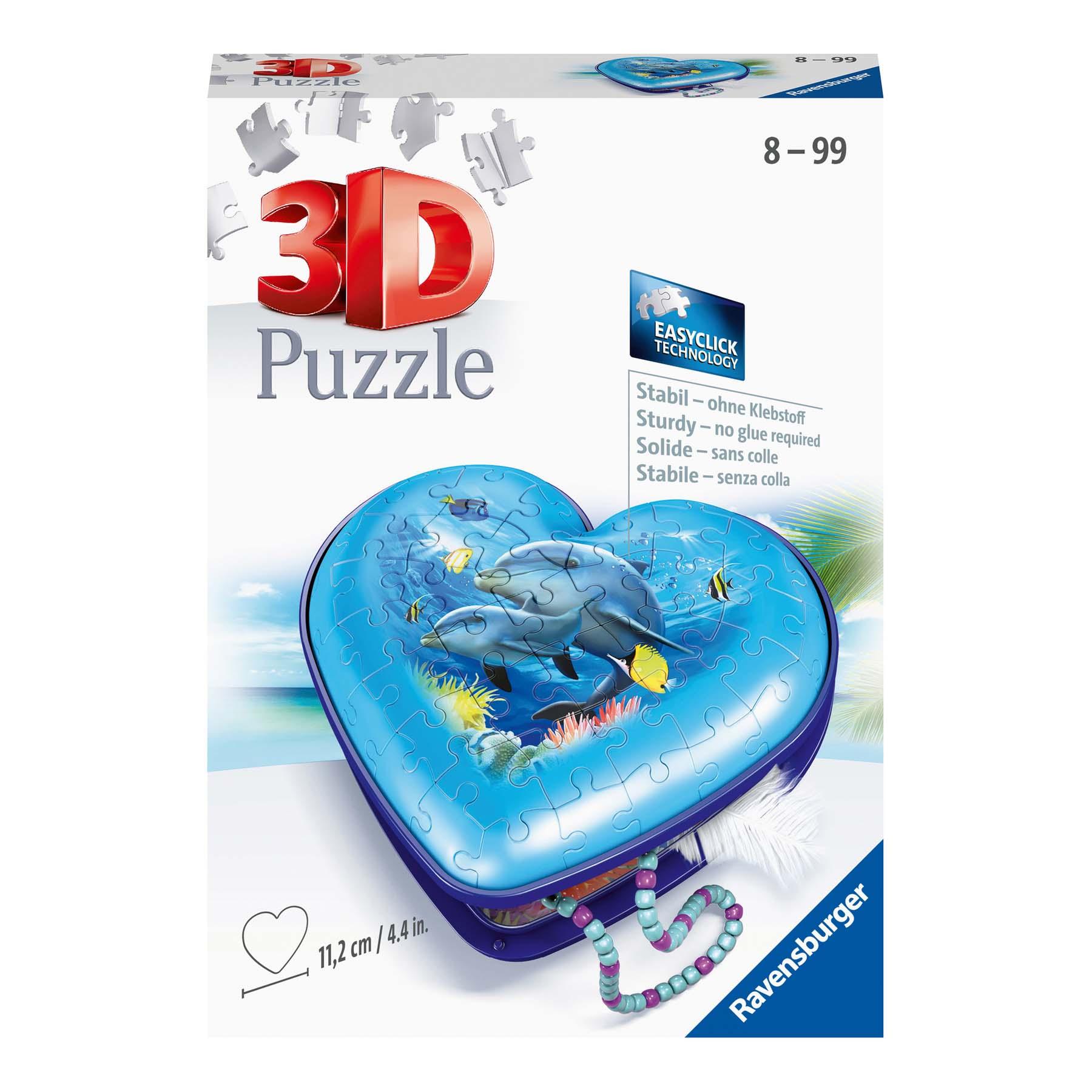 Afbeelding van Puzzel 3D Hartendoosje Onderwaterwereld