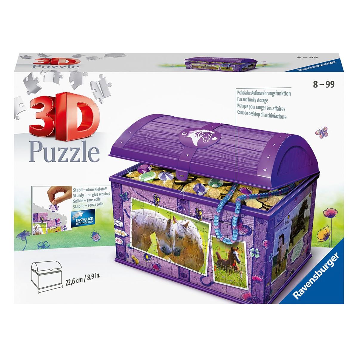 Afbeelding van Puzzel 3D Opbergdoos Paarden