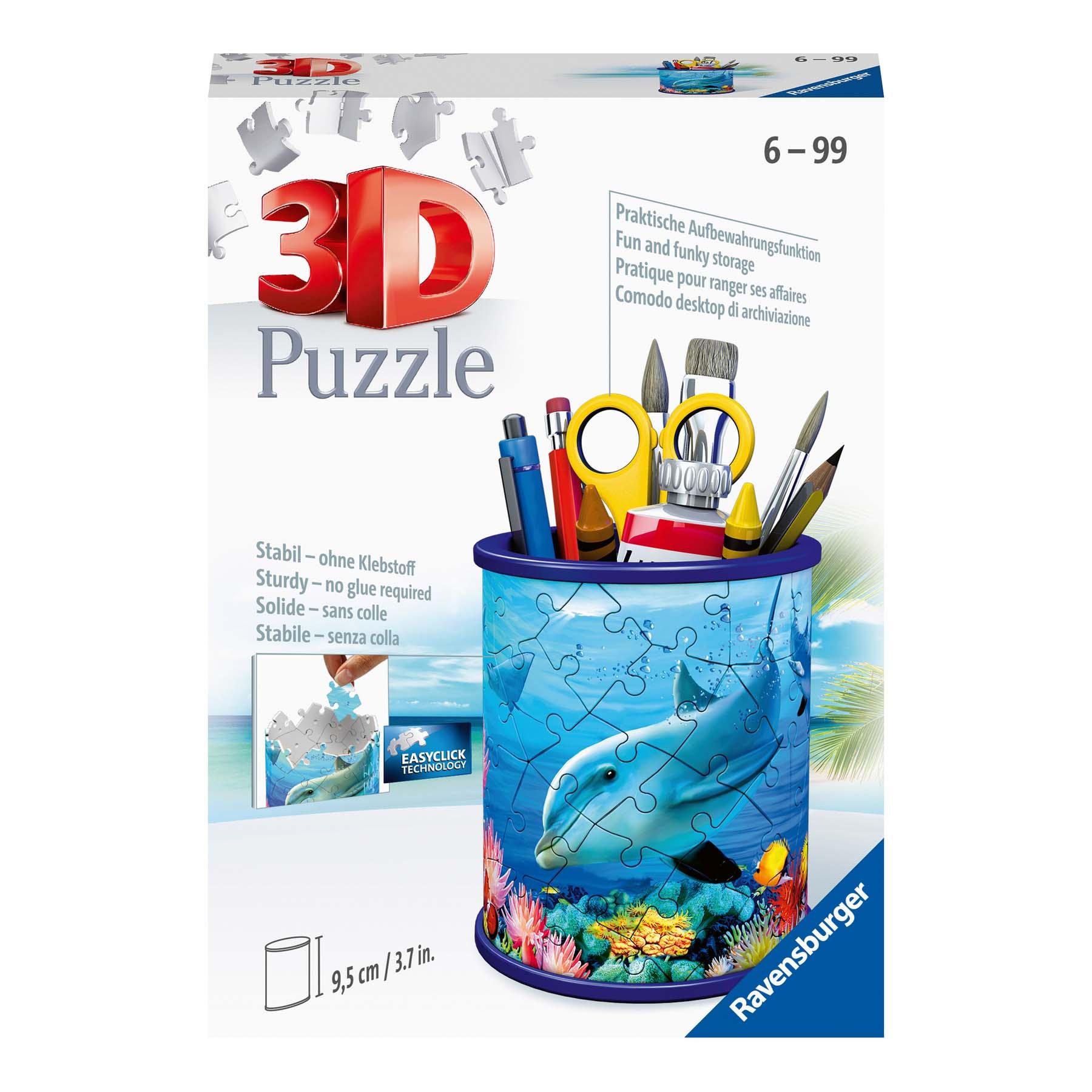 Afbeelding van Puzzel 3D Pennenbak Onderwaterwereld Rond
