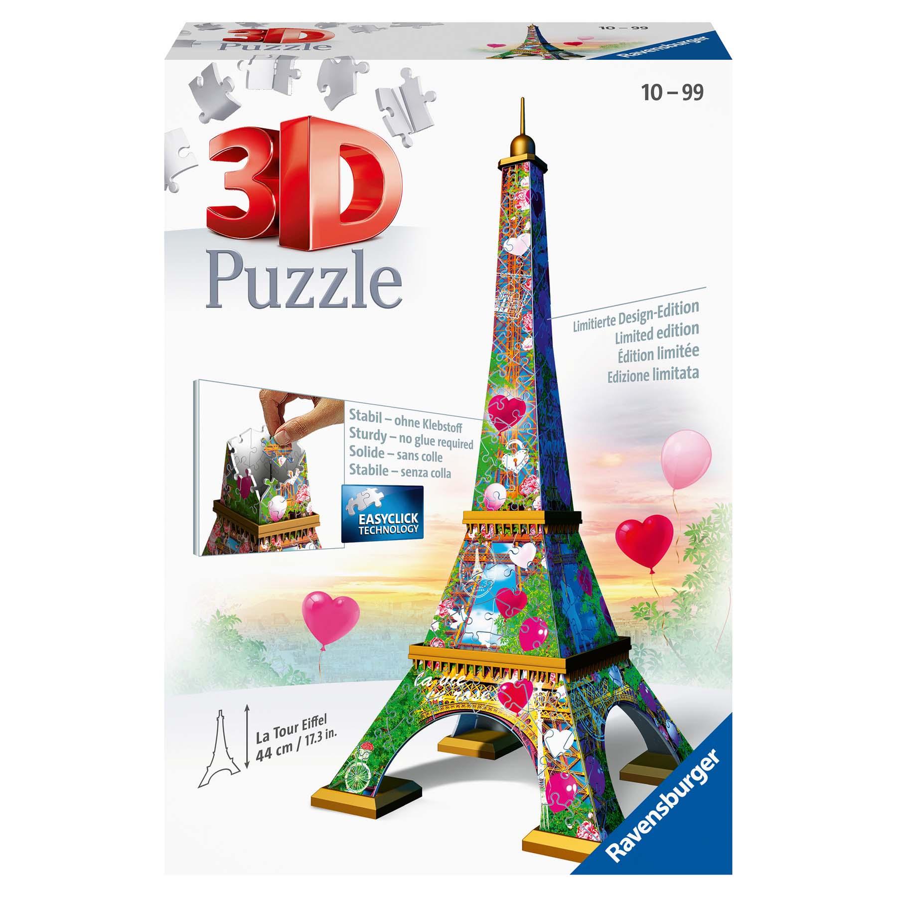 Afbeelding van Puzzel 3D Eiffeltoren Love Edition