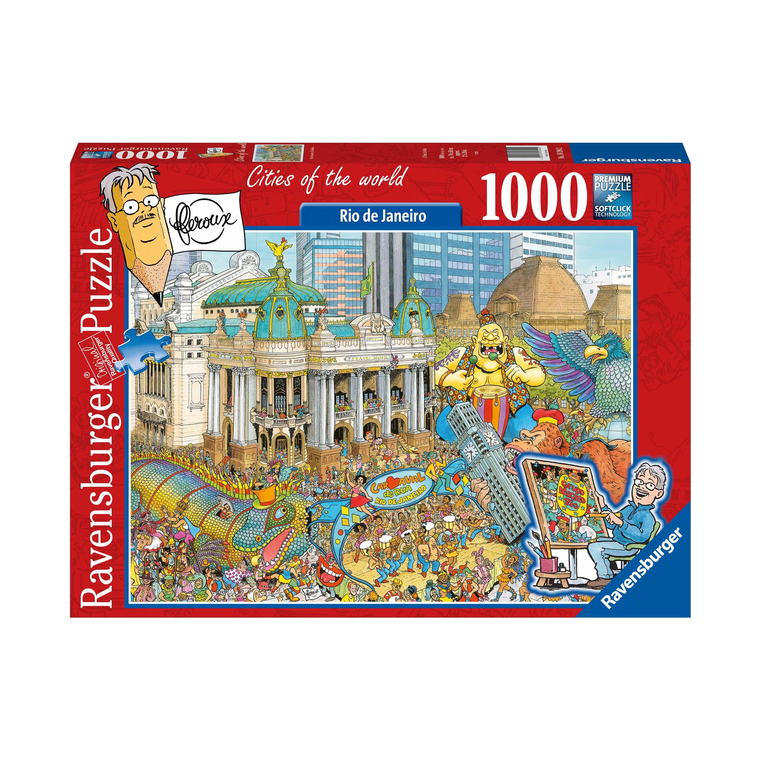 Afbeelding van Puzzel Fleroux Rio De Janeiro 1000 Stukjes