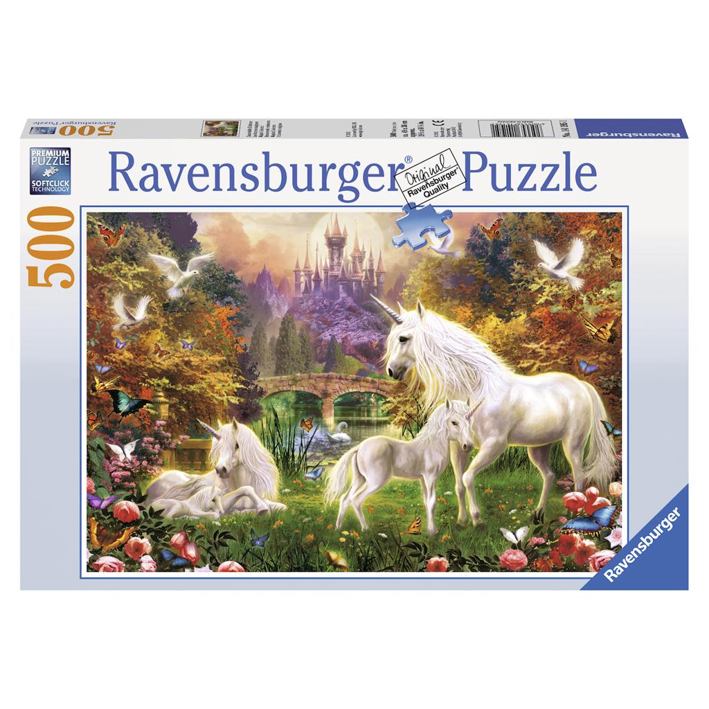 Afbeelding van Puzzel Betoverende Eenhoorns 500 Stukjes