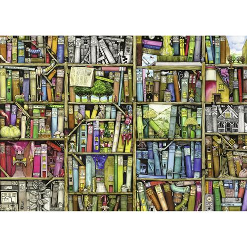 Afbeelding van Puzzel Bizarre Bookshop 1000 Stukjes Colin Thompson